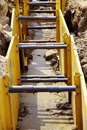 Excavation pit Royalty Free Stock Photo