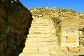 Excavations of the ancient city stone stage stairs Stock Images