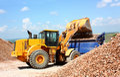 A excavator Royalty Free Stock Photo