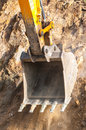 Excavator bucket closeup Royalty Free Stock Photo