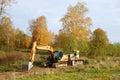 Excavator and Bulldozer Royalty Free Stock Photo