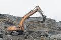 Excavator in a career