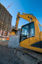 Excavator construction Stock Photo