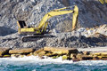 Excavator at construction site Royalty Free Stock Photography