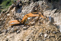 Excavator at a construction site Royalty Free Stock Photography