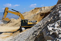 Excavator crawler digger Royalty Free Stock Photo