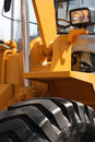 Excavator detail. Royalty Free Stock Photo