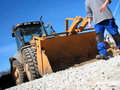 Excavator driver Royalty Free Stock Photo
