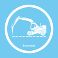 Excavator with hydraulic hammer Royalty Free Stock Photo
