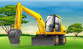 Excavator illustration of an yellow Royalty Free Stock Images