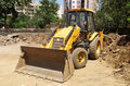 Excavator loader with backhoe-III Royalty Free Stock Image