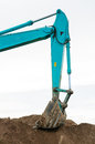 Excavator loader machine during works outdoor at construction site Stock Image