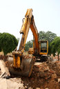 Excavator operations Royalty Free Stock Photography