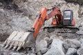 Excavator in quarry Royalty Free Stock Photo