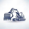 Excavator symbol Royalty Free Stock Photo