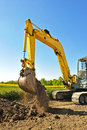 Excavator two Royalty Free Stock Images