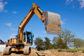 Excavator working Stock Image
