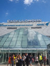 Excel centre london exhibition city river thames Royalty Free Stock Photography
