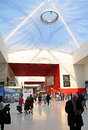 Excel exhibition centre photo showing the inside of the with detail of large glass roof section photo taken th july and ideal for Stock Image