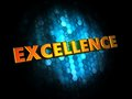 Excellence concept on digital background golden color text dark blue Royalty Free Stock Photo