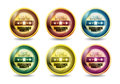 Excellence Quality Button Set Royalty Free Stock Images