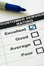 Excellent Customer Service Rating Royalty Free Stock Photo