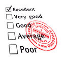 Excellent evaluation pass Royalty Free Stock Image