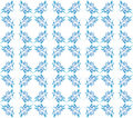 Excellent floral seamless blue ornate background