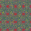 Excellent pattern with green circles and red center.