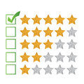 Excellent review rating illustration design over a white background Stock Photo