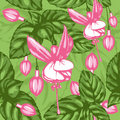 Excellent seamless pattern with fuchsia Stock Images