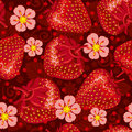 Excellent seamless pattern with strawberry Royalty Free Stock Image