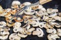 Cooking Grilled Mushrooms Champignons, They Are A Party Food