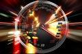 Excessive speed on speedometer Royalty Free Stock Photo
