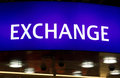 Exchange sign lightbox Stock Photography
