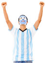 Excited Argentinean man Stock Photos