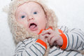 Excited Baby in Hat Royalty Free Stock Photo