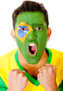 Excited Brazilian man Royalty Free Stock Photo