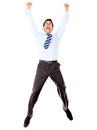 Excited businessman jumping Royalty Free Stock Photo