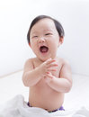 Excited cute Baby smile face Stock Photography