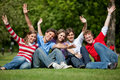 Excited group of friends Royalty Free Stock Images