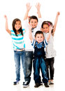 Excited group of kids Royalty Free Stock Image