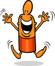 Excited guy cartoon illustration of happy or funny character Royalty Free Stock Image