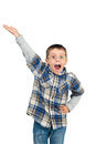Excited little boy shouting Royalty Free Stock Photography