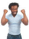 Excited man celebrating success Stock Images