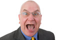 Excited man reacting in amazement Royalty Free Stock Photo