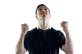 Excited rugby player gesturing victory Royalty Free Stock Photo
