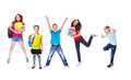 Excited students basic and secondary school Stock Images