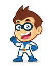 Excited superhero vector clipart picture of an cartoon character Stock Photo