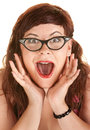 Excited Woman Shouting Stock Photography
